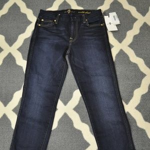 NWT 7 For All Mankind Ankle Straight Jeans - 25